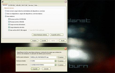 recuperar archivos 2_msconfig